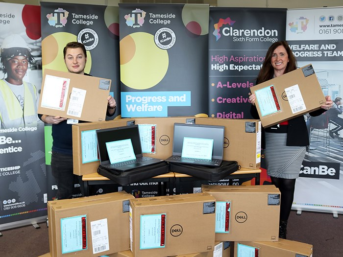 The laptops donated by Boohoo